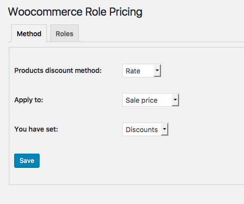 Woocommerce Role pricing opciones